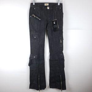 NWT Antik Bootcut Black Low Rise Jeans Size 24